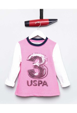 U.S. Polo Assn. Kız Çocuk Severina Sweatshirt Pembe