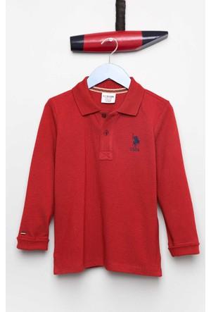 U.S. Polo Assn. Erkek Çocuk Tp01Sk7 Sweatshirt Bordo