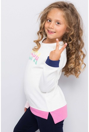 U.S. Polo Assn. Kız Çocuk Selena Sweatshirt Bej