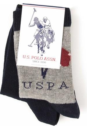 U.S. Polo Assn. Erkek Çocuk Jonessk7 Çorap Gri