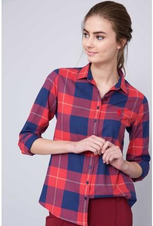 U.S. Polo Assn. Kadın Carrick Gömlek Kırmızı