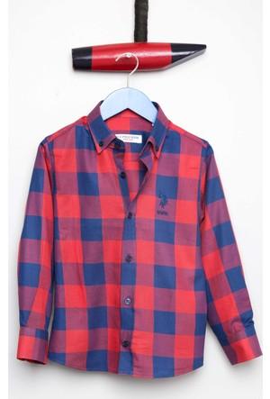 U.S. Polo Assn. Erkek Çocuk Pellekids Gömlek Kırmızı