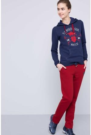 U.S. Polo Assn. Kadın Hamar Sweatshirt Lacivert
