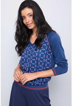 U.S. Polo Assn. Kadın Hesene Sweatshirt Lacivert