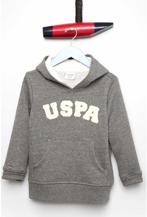 U.S. Polo Assn. Erkek Çocuk Jaxelsk7 Sweatshirt Gri Melanj