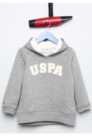 U.S. Polo Assn. Erkek Çocuk Jaxelsk7 Sweatshirt Gri