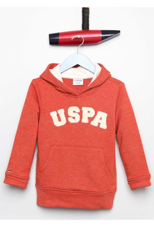 U.S. Polo Assn. Erkek Çocuk Jaxelsk7 Sweatshirt Kırmızı