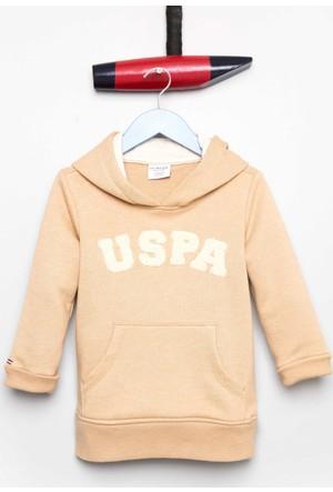 U.S. Polo Assn. Erkek Çocuk Jaxelsk7 Sweatshirt Krem Rengi