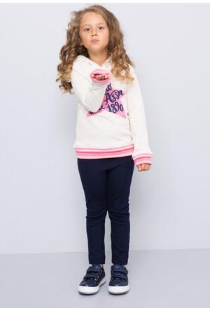 U.S. Polo Assn. Kız Çocuk Sofa Sweatshirt Bej