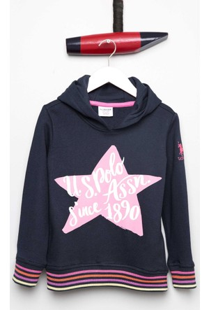 U.S. Polo Assn. Kız Çocuk Sofa Sweatshirt Lacivert