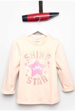 U.S. Polo Assn. Kız Çocuk Soma Sweatshirt Pembe