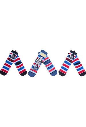 Star Wars SW9778 Çocuk 3'lü Soket Çorap