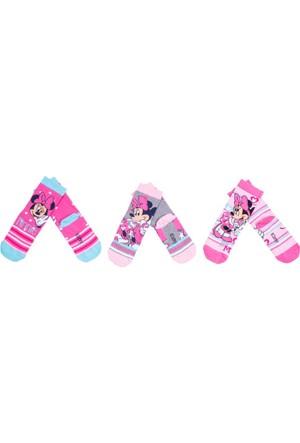 Minnie Mouse MN9486 Çocuk 3'lü Soket Çorap