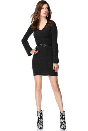 Miss Lusi 7392356 V Yaka Uzun Kol Elbise