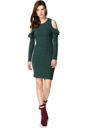 Miss Lusi 7392395 Omuzu Açık Frıfırlı Uzun Kol Elbise