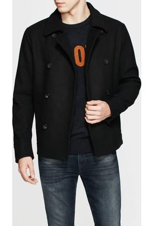 Mavi Yünlü Siyah Ceket