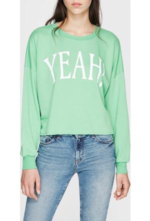 Mavi Yeah! Baskılı Sweatshirt