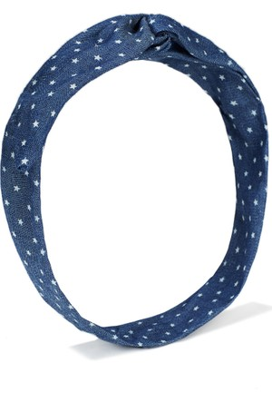 Mavi İndigo Mavi Saç Bandı