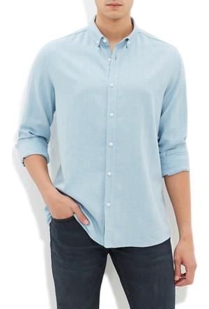 Mavi Erkek Bulut Mavi Cepsiz Gömlek