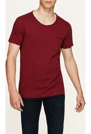 Mavi Erkek Koyu Bordo Basic T-Shirt