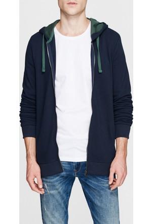 Mavi Erkek Lacivert Fermuarlı Sweatshirt