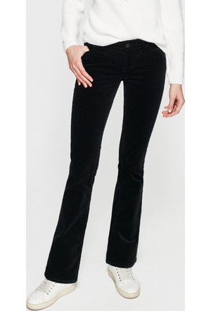 Mavi Molly Siyah Kadife Pantolon
