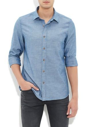Mavi Erkek İndigo Gömlek