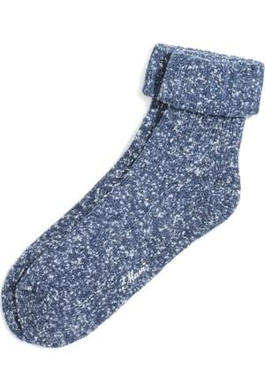 Mavi Kadın Gece Lacivert Çorap