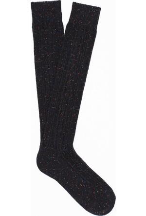 Mavi Kadın Siyah Çorap