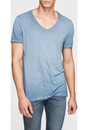 Mavi Erkek Koyu Gri V Yaka T-Shirt