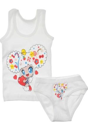 Modakids Kız Bebek Baskılı Atlet Külot Takım 035-83038-027
