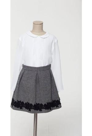 Goose Kız Çocuk Patı Fırfırlı Şifon Gömlek