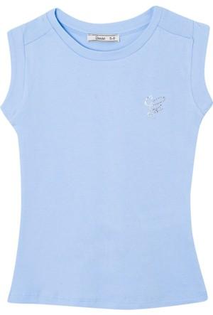 Goose Kız Çocuk Omuzu Büzgülü T-Shirt
