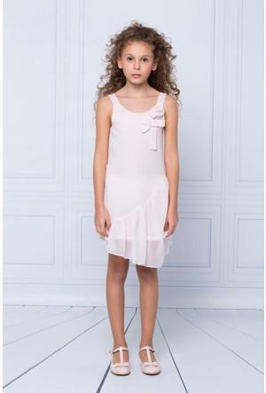 Goose Kız Çocuk Askılı Şifon Elbise