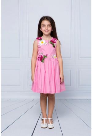 Goose Kız Çocuk Aplikeli Elbise