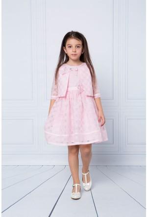 Goose Kız Çocuk Sim Puantiyeli Fiyonklu Elbise