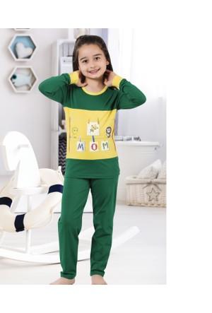 Serra Star Kız Çocuk Pijama Takımı Yeşil
