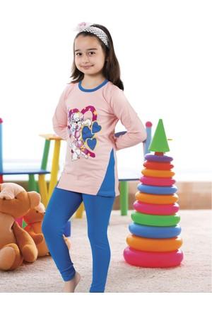 Serra Star Kız Çocuk Pijama Takımı Mavi