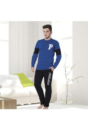 Serra Star Erkek Pijama Takımı Mavi