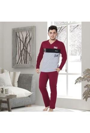 Serra Star Erkek Pijama Takımı Bordo