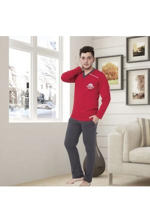 Serra Star Erkek Pijama Takımı Kırmızı