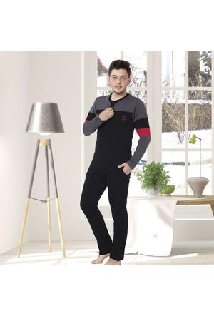 Serra Star Erkek Pijama Takımı Siyah