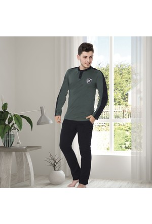 Serra Star Erkek Pijama Takımı Yeşil