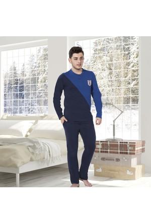 Serra Star Erkek Pijama Takımı Lacivert