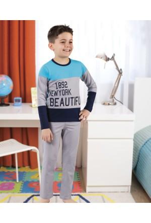 Serra Star Erkek Çocuk Pijama Takımı Gri
