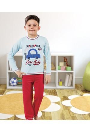 Serra Star Erkek Çocuk Pijama Takımı Mavi