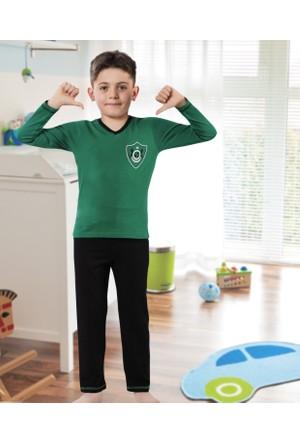 Serra Star Erkek Çocuk Pijama Takımı Yeşil