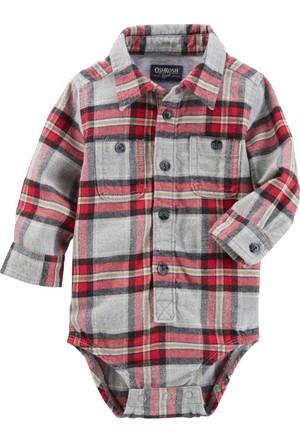 Oshkosh Erkek Bebek Gömlek Body Yılbaşı 13141015
