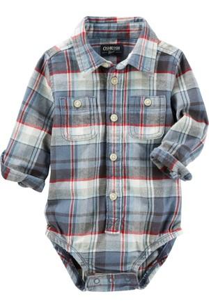 Oshkosh Erkek Bebek Gömlek Body Yılbaşı 13141012