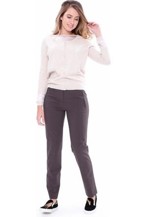 Elie Tahari Kadın Pantolon Kahverengi